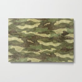 Distressed Camouflage Metal Print
