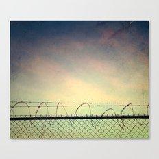 BARBWIRE BLUES Canvas Print