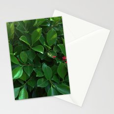 Green tropical foliage Stationery Cards