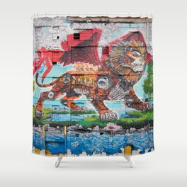 Detroit Chimera ( kī-ˈmir-ə ) Shower Curtain