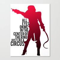 britney Canvas Prints featuring Britney Circus by Tadeu Marques