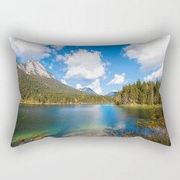 Panorama Alpin Lake Hintersee at Ramsau in Bavaria Rectangular Pillow