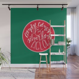 Candy Canes and Silver Lanes Wall Mural