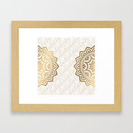 Gold Mandala 13 Framed Art Print