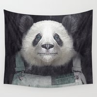 butcher billy Wall Tapestries featuring Billy Bob Panda by Vin Zzep