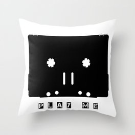 Cassette Tape Play Me Throw Pillow