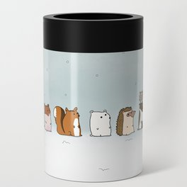 Winter forest animals Can Cooler