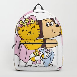 Wedding of a dog and a cat Backpack