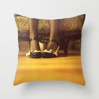 shoes Throw Pillows featuring Shoes by Artemysia