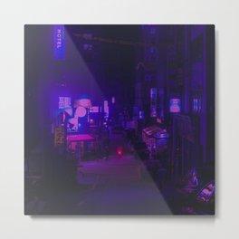 Vaporwave Vibes Alleyway Metal Print