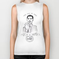 dale cooper Biker Tanks featuring DALE COOPER : THIS PIE IS SO GOOD IT IS A CRIME by Adrianna Ojrzanowska