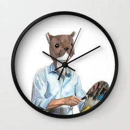 Happy Squirrel Wall Clock
