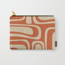 Palm Springs - Midcentury Modern Retro Pattern in Mid Mod Beige and Burnt Orange Carry-All Pouch