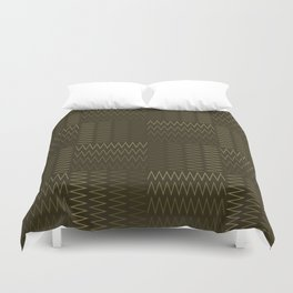 ZigZag with Complementary Color Duvet Cover
