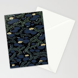 night waterlily Stationery Cards