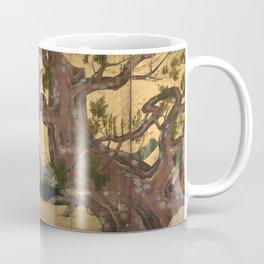 Cypress Tree - Japanese Eight-Panel Gold Leaf Screen - Azuchi-Momoyama-Period Coffee Mug