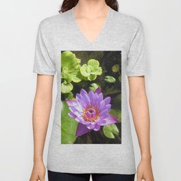 Purple Lilly Unisex V-Neck