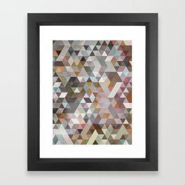 Triangles Pastel Framed Art Print