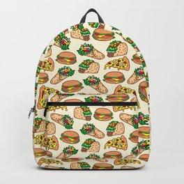 I <3 carbs (Fast food pattern) Backpack