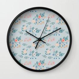 Bouquet Floral Pattern Wall Clock