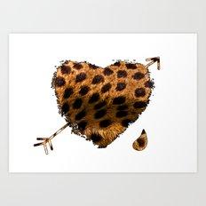 CHEETING HEART Art Print