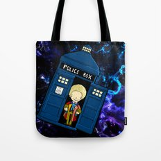 Tardis in space Doctor Who 6 Tote Bag
