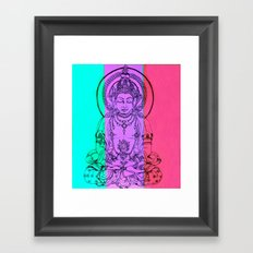monday meditation Framed Art Print