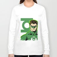 green lantern Long Sleeve T-shirts featuring Green Lantern by J. J.