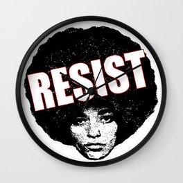 Angela Davis - Resist (black version) Wall Clock