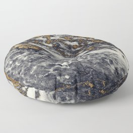 Dark Blue Marble with Gold Speckles Floor Pillow