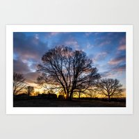 Here comes the sun. Art Print