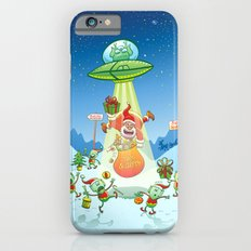 Santa Claus Abducted by a UFO just before Christmas Slim Case iPhone 6s