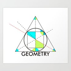 geometry mathematics trigonometry shapes text Art Print
