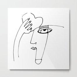 Goddess Doodle 2019-4 by Kathy Morton Stanion Metal Print