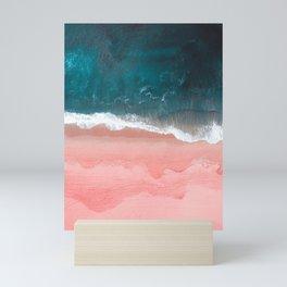 Turquoise Sea Pastel Beach III Mini Art Print