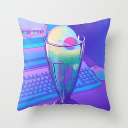 Space Cream Soda Throw Pillow