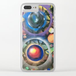 Colorful Cosmos Clear iPhone Case