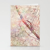 vienna Stationery Cards featuring Vienna by MapMapMaps.Watercolors