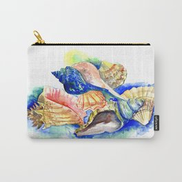 Beach design, Seashell, ocean beach seashell artwork, beach house Carry-All Pouch