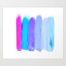 Ombre Brush Strokes Art Print