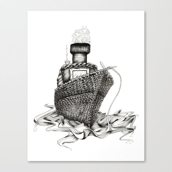 Knitted Ship Canvas Print