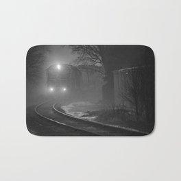 Train In The Fog Bath Mat