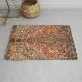 Golden Oriental Vintage Traditional Moroccan Style Rug