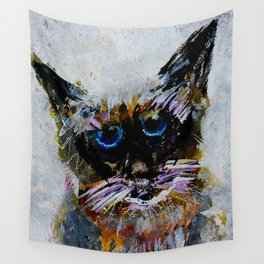 Old Cat Wall Tapestry