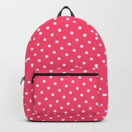 Pastel Goth Pastel Pink Retro Polka Dot (White) Backpack
