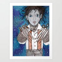 Edward Scissorhands tribute Art Print