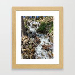 Desolate Waterfall Framed Art Print