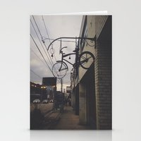 bicycles Stationery Cards featuring Bicycles by Wanderlust Fhotos