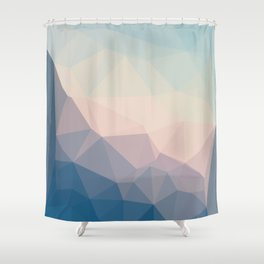 BE WITH ME - TRIANGLES ABSTRACT #PINK #BLUE #1 Shower Curtain
