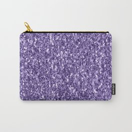 Ultra violet purple glitter sparkles Carry-All Pouch